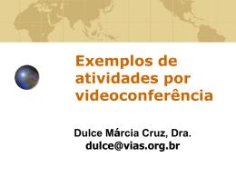 Exemplos de atividades por videoconferência