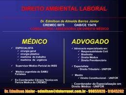 DIREITO AMBIENTAL LABORAL NORMAS