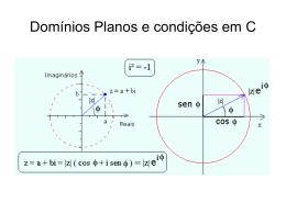 Domínios planos e condições em C