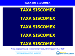 taxa do Siscomex