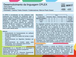 Desenvolvimento da linguagem CPLEX Vitória Berté