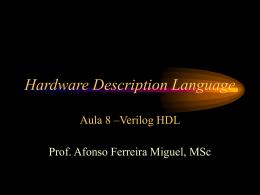 Aula 8: VHDL - Afonso Ferreira Miguel, MSc