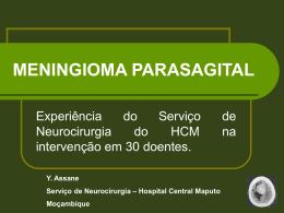 PARASAGITAL MENINGIOMA - III Jornadas Cientificas do HCM 2015