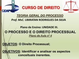 O Direito Processual