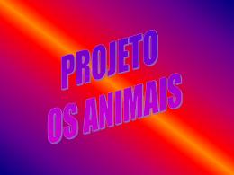 Projeto Conhecendo Melhor os Animais