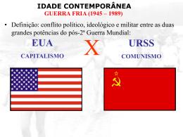IDADE CONTEMPORÂNEA GUERRA FRIA