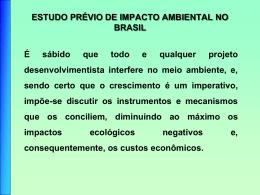 o Estudo de Impacto Ambiental (EIA)