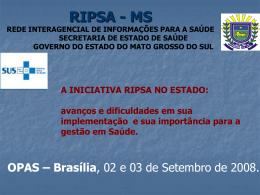 RIPSA MS - Secretaria Estadual de Saúde