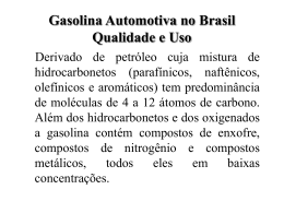 Gasolina Automotiva no Brasil Qualidade e Uso