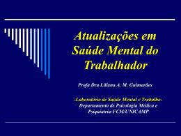 Atualizações em Saúde Mental e Trabalho