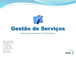 Gestão de Serviços - MBA Veris GEEN 0535