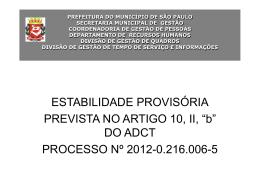 """""""b"""", do ADCT/CF 1988 - Prefeitura de São Paulo"""