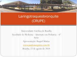 Laringotraqueobronquite (CRUPE)