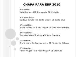 Propostas chapa ERP2010 – Debate