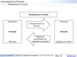 Planejamento e controle de curto prazo