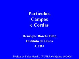 Partículas, Campos e Cordas - Instituto de Física / UFRJ