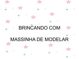 BRINCANDO COM MASSINHA DE MODELAR