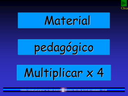 Tabuada de multiplicar (x4)