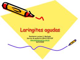 Laringites agudas - Paulo Roberto Margotto