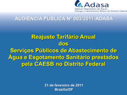 Audiência Pública nº 003/2011