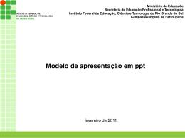 Modelo Apresentação Estágio - IFRS