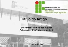 Modelo Slides - Prof. Marcos Valin Jr
