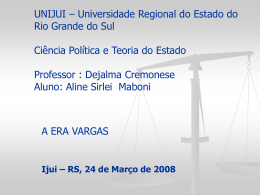 UNIJUI – UNIVERSIDADE REGIONAL DO