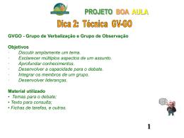 gvgo projeto boa aula
