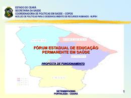 Apresentação do FORUM DE EDUCACAO PERMANENTE
