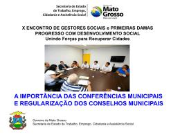 a importância das conferências municipais