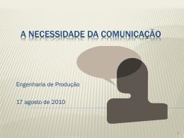 A necessidade da comunicação