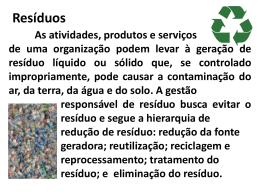 6.5.3.1resíduos sólidos ou líquidos