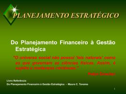 1 Planejamento Estratégico - Mauro C Tavares