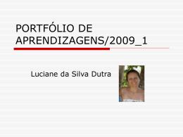 PORTFÓLIO DE APRENDIZAGENS/2009_1