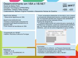 Desenvolvimento em VBA e VB.NET Daniel de Mattos