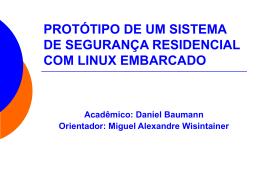 protótipo de um sistema de segurança residencial com linux