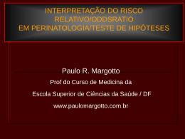 Bioestatística Básica-Residentes do Hospital Regional de Sobradinho