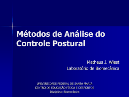 Métodos de Análise do Controle Postural