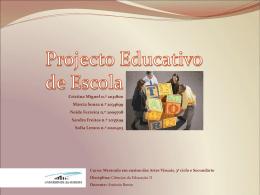 Entrevista – Projecto Educativo de Escola