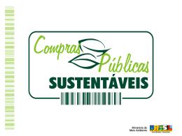 COMPRAS PUBLICAS SUSTENTÁVEIS