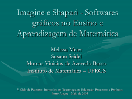 Imagine e Shapari - Softwares gráficos no Ensino - Cinted