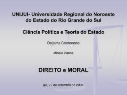Direito e moral - Capital Social Sul