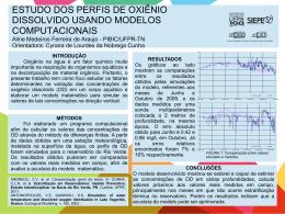 ESTUDO DOS PERFIS DE OXIÊNIO DISSOLVIDO USANDO