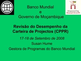 Revisão do Desempenho da Carteira de Projectos (CPPR)