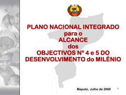 Plano integrado para o alcance dos objectivos 4 e 5 do