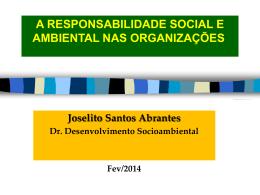 RESPONSABILIDADE SOCIAL NAS ORGANIZAÇÕES A