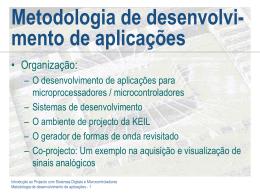 Metodologia de desenvolvimento de aplicações
