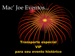 Mac` Joe Eventos