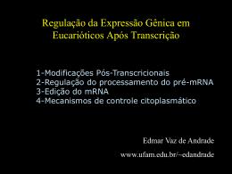 Regulação da Expressão Gênica Pós-Transcricional em