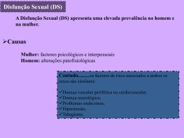 disfunção sexual.